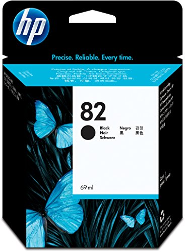 HP 82 Schwarz Original Tintenpatrone, 69 ml