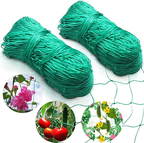 Ranknetz Rankhilfe Garten Tomaten Gurken 2mx5m, für den perfekten Wachstum von Tomaten, Gurken und Kletterpflanzen Das Optimale Rankhilfe Netz für Garten und Gewächshaus - Maschnweite (10cm)