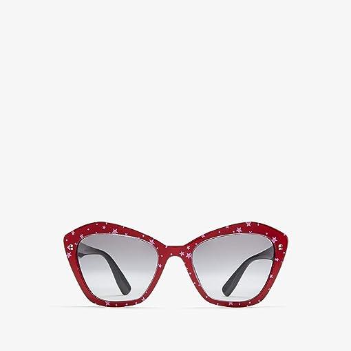 Black Top Red/White Stars/Light Grey Gradient