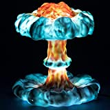 YQCX Lámpara de Explosión Nuclear Gyw, Lámpara de Nube de Seta 3D Creativa con 3/7 Color Cambiante, Lámpara de Mesa de Impresión Hecha a Mano Lámpara de Mesa para Niños para Niños Decoraci
