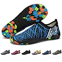 (6.5 UK, Style 6) - Barefoot Water Shoes Mens Womens Quick Dry Unisex Sports Aqua Shoes Lightweight Durable Sole for Beach Pool Sand Swim Surf Yoga Water Exercise