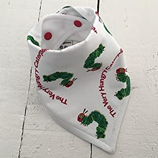 Hungry caterpillar bandana dribble bib:Dailyvideo
