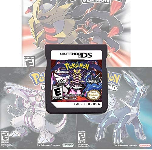 Pokemon Platinum Pearl Diamond 3 in 1 Version Games Card Compatible with Nintendo DS 2DS 3DS product image