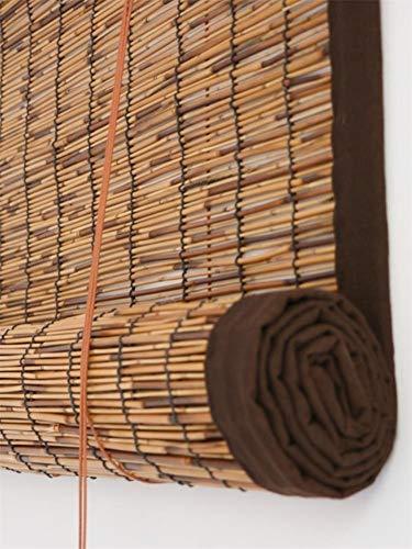 YUMUO Retro bamboe-zonwering rolluiken jaloezieën, strogordijn, bamboegordijn gordijn liftinggordijn 150x250cm(59x98inch) A