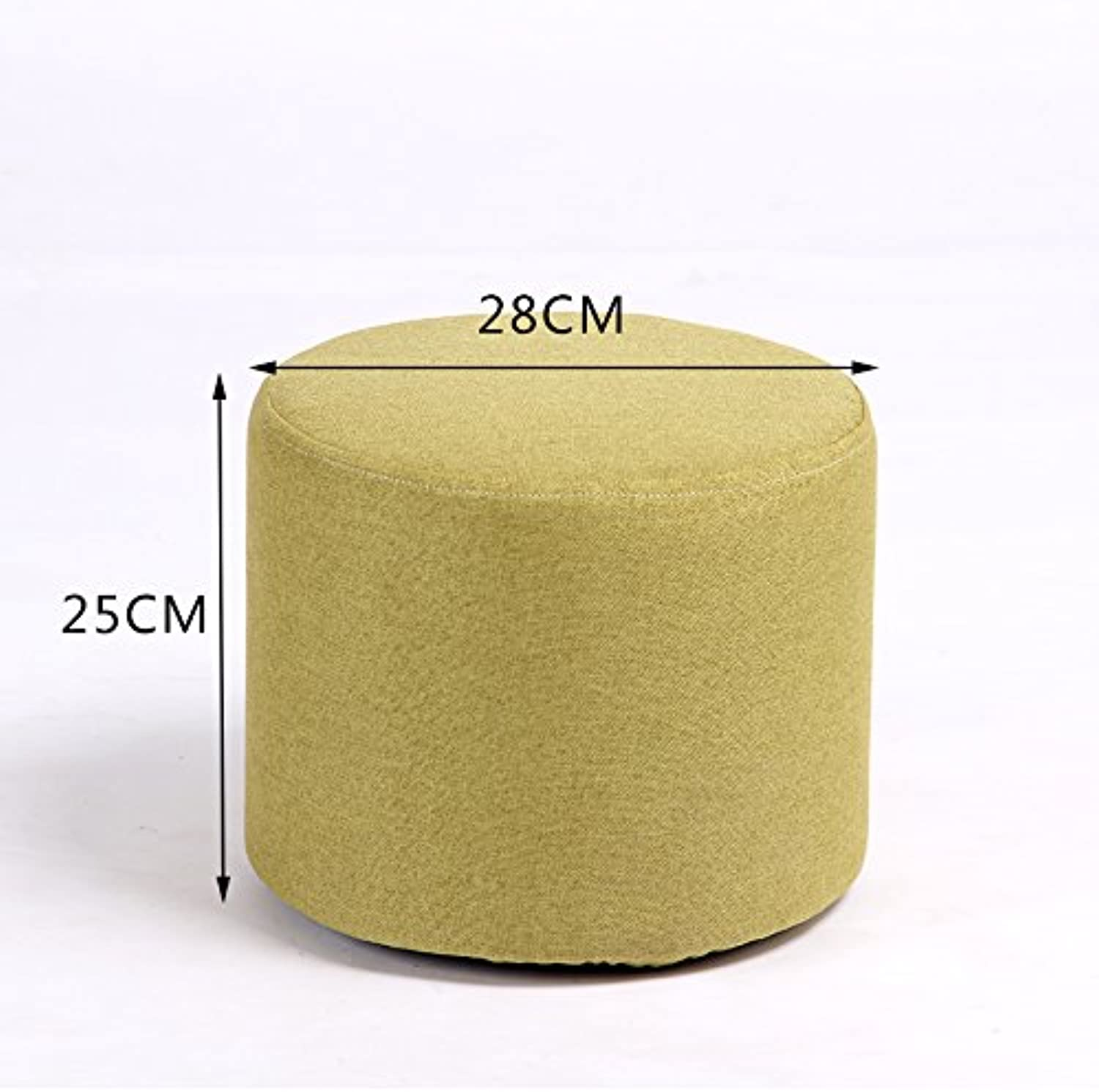 Dana Carrie Stool Stylish Ideas for shoes of Solid Wood Cloth Sofas stools Low stool Round stool wear shoes The Tea Small stools Benches sit Mounds of Grass Green 25  28cm