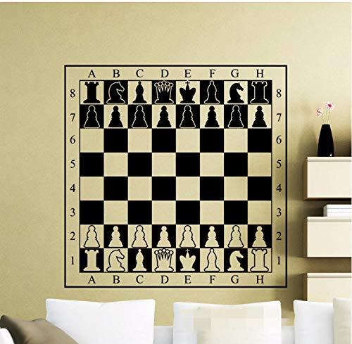 Wandaufkleber diy kreative pvc kunst aufkleber schachbrett selbstklebende wohnzimmer aufkleber familie wasserdicht büro schlafzimmer kinderzimmer 58x58CM