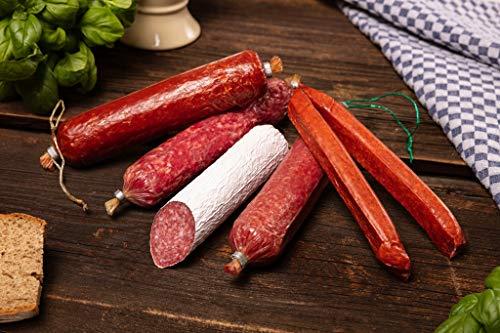 WURSTBARON® - Feinschmecker Salami Wurst Probierpaket aus Bayern mit bayerischen Spezialitäten - 4 Sorten Salami & 2 Landjäger - 750g