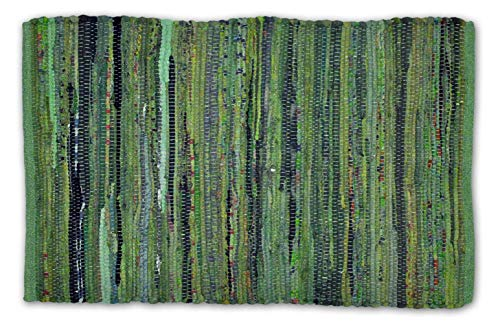 Home Essentials DII Rag Rug for Kitchen, Bathroom, Entry Way, Laundry Room and Bedroom, 20 x 31.5 Olive Green