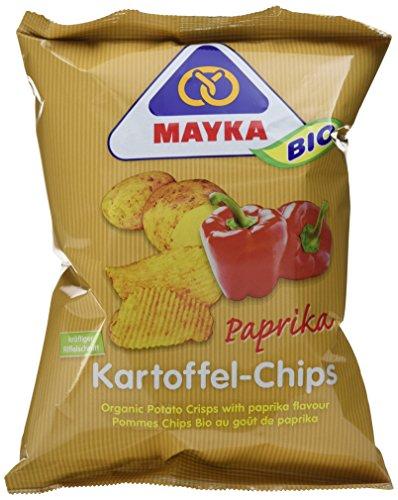 Mayka Bio Kartoffelchips, Paprika, 8er Pack (8 x 70 g)