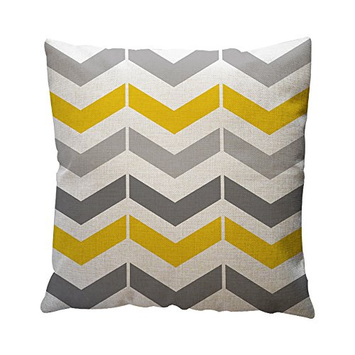OYSOHE Baumwolle Leinen Kissenbezug Gelbe Geometrische Muster Dekokissen Fall Kissenbezug (E,Einheitsgröße