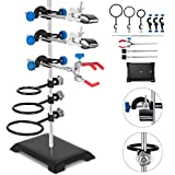 VEVOR Laboratory Grade Metalware Set - Support Stand Premium Iron Material Laboratory Stand Support Lab Clamp...