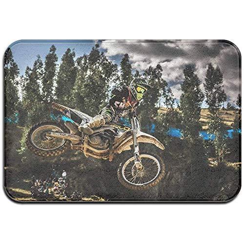 SESILY Deurmat Ingang Voordeur Achterdeur Mat Niet Slip Modder Dirt Trapper Ingang Matten - Motocross Sport Motorfiets Voertuig