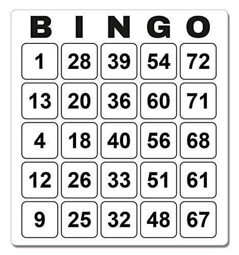 96 Bingo Karten laminiert System 25 aus 75 stabil abwaschbar (9,2 x 10 cm)
