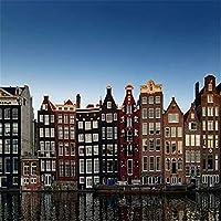 大人のための2000ピースプレミアムジグソーパズル-美しい家と運河-2000ピースジグソーパズル70X100cm(27.55X39.37inch)