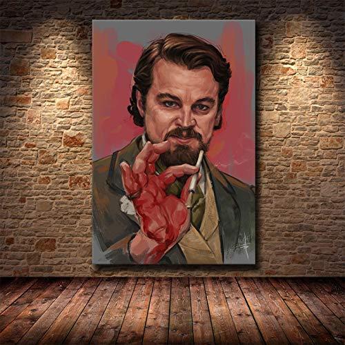 Weijiajia Quentin Poster e Stampe Tarantino Django Unchained Classic Film Art Pittura murale Immagini per Soggiorno Decorazioni per la casa 50x70 cm (19,68x27,55 in) F-884