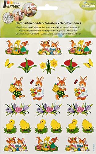 Heitmann Eierfarben - Abziehbilder für Ostereier - zum nassen Aufbringen auf braune oder weiße Eier - Bunte Ostermotive