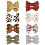 16 Stück Baby Mädchen Haarschleife Clips Haarspangen Krokodilklemme Haarschmuck für Mädchen Kleinkind Kinder Teenager und große Mädchen, 8 Paare
