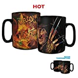 A Nightmare On Elm Street – Welcome to My Nightmare – Freddy Krueger – Morphing Mugs Heat Sensitive Clue Mug – Full image revealed when HOT liquid is added - 16oz Large Drinkware