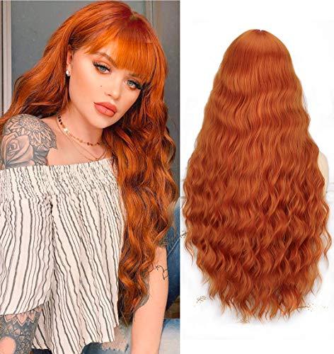 obtener pelucas pelo largo con flequillo en línea