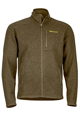 Marmot Men's Drop Line, Lightweight 100-Weight Sweater Fleece Jacket, Deep Moss, Medium