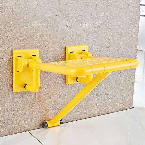 MWPO Seguridad en el baño Taburete Plegable Silla Plegable Anciano con Patas Silla de baño ducharse Silla de Pared Cambiar Taburete de Zapatos