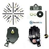 Kit Quartz completo para fabricar un reloj de péndulo con manecillas de metal negro, negro, 76mm Black Hands