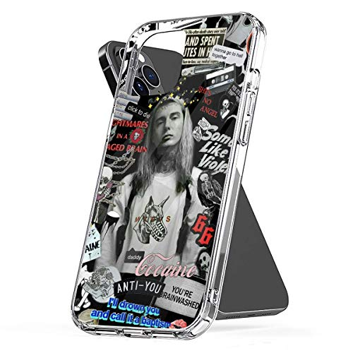 REDPEONY Phone Case Compatible with iPhone 7 6 Se 2020 8 11 12 X Xr Ghostemane 6s Collage Plus Xs Pro Max Mini Mixed Combine Collage Jumbo Photo Media