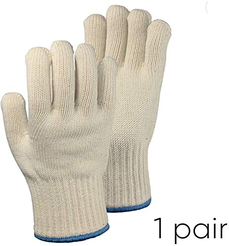 1 PAIR Heat Resistant Gloves Oven Gloves Heat Resistant With Fingers Oven Mitts Kitchen Pot Holders Cotton Gloves Kitchen Gloves Double Oven Mitt Set Oven Gloves With Fingers