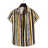 SSBZYES Camisas para Hombres Verano De Manga Corta Camisas Informales para Hombres Camisas De Flores para Hombres Código Europeo Moda Estampado Hawaiano Camisas De Manga Corta De Algodón