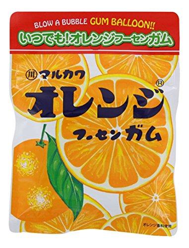 丸川製菓 チャック袋オレンジマーブルガム 47g×10個