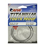 American Fishing Wire Titanium Tooth Proof Single Strand Leader Wire, Black Color, 30 Pound Test, 15-Feet