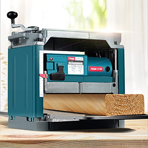 Regruesadora Cepilladora, Multifuncional 8000R / Min Desktop Electric Woodworking Paner Spessbtop Jointer Paner, Altura Ajustable, Herramientas Ideales De Carpintería