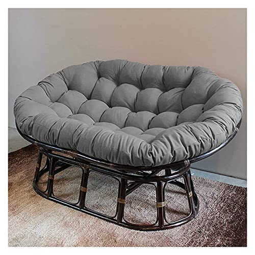 DYYD Egg Chair Cushion Double Papasan Chair Cushion, Hanging Egg Hammock Chair Pads with Ties Swing Chair Cushions, for Outdoor Patio Garden (Color : Gray)