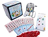 Regal Games Jumbo Party Bingo Set with Jumbo 9 x 8 Easy Read Bingo Cards and Large 12 Inch Rotary Cage