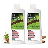 Desert Essence Natural Neem Mouthwash - Cinnamint Flavor - 16 Fl Ounce - Pack of 2 - Reduce Plaque Buildup - Tea Tree Oil - Neem Leaf Extract - Peppermint - Complete Oral Care - Refreshes Breath