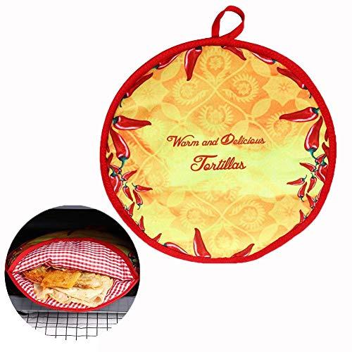 Tortilla Wärmer - 30,5 cm Isoliert Speisewärmer Lebensmittelisolierungsbeutel - Mikrowellen-Lunch-Beutel - Tortilla-Pfannkuchen-Wärmer-Beutel - Lebensmittel über 2 Stunden warm halten - 11.41 ''