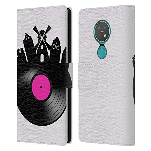 Officiële Mark Ashkenazi Amsterdam Muziek Lederen Book Portemonnee Cover Compatibel voor Nokia 7.2