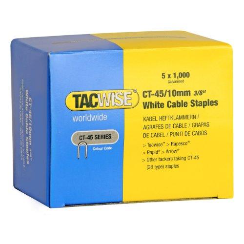 Tacwise Heftklammern CT45/10 mm, 5000 Stück, weiß, 0353