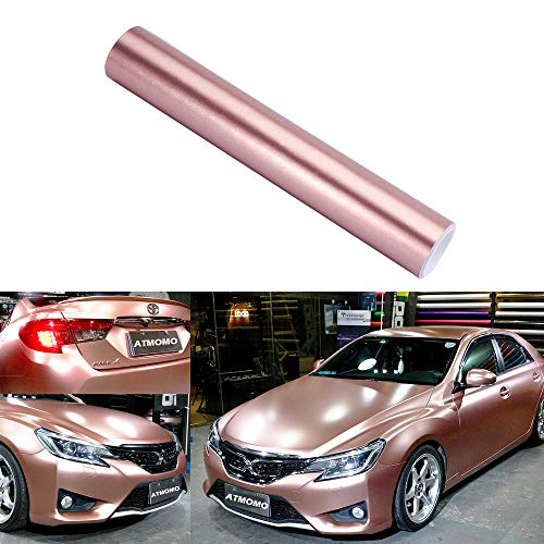 Metallic Rose Gold Craft Vinyl Wrap Roll Adhesive Vinyl Car Sticker 30CM x 1.52M