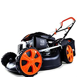FUXTEC petrol lawn mower FX-RM1850ECO with 46 cm engine Easy Clean 4in1 engine mower tested with the note 1,4 in the home improvement practice journal
