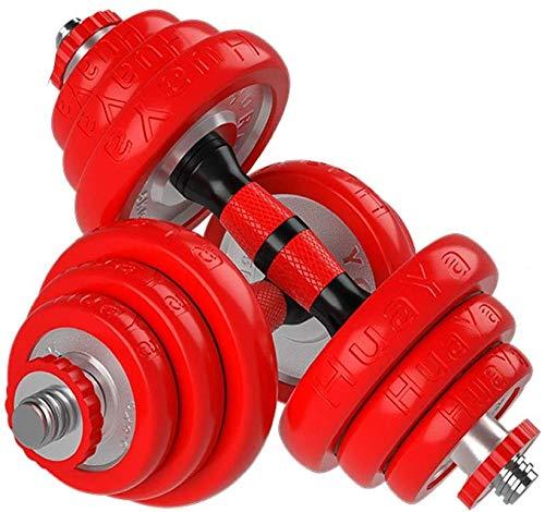 Für alles dankbar Hantel Hantel Herren Fitness Galvanisierte Langhantel Abnehmbare Gummierte Hantel Fitnessgeräte Home(Size:15 kg)