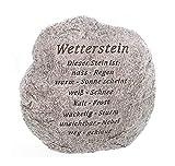 linoows XL Wetterstein, Lustiger Deko Stein mit Schriftzug, Gartenfigur, Gartendeko
