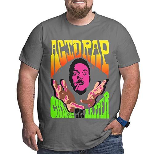 Camiseta para hombre Chance The Rapper Social Experiment Tour de manga corta, deportiva, talla grande, cuello redondo, color negro Deep Heather3 XXXL