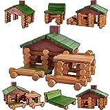 HYAKIDS Blocchi di Costruzioni Legno Giocattoli Mattoncini in Legno per Bambini Fai da Te Assemblare Giocattolo Educativi Giochi per Bambini Bambino 3 4 5 Anni