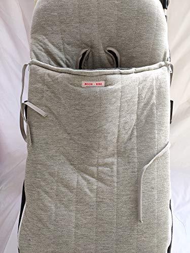 MOON-BEBE Saco Universal para sillas de paseo ALGODÓN (GRIS)