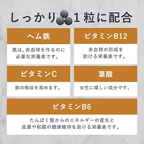 オーガランド[ogaland]お徳用ヘム鉄&ビタミン[90粒/約3ヶ月分](ヘム鉄&ビタミン350mg含有)ビタミンCビタミンB12葉酸