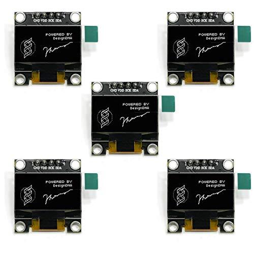 5 Pantallas Oled 0.96 pulgadas 128x64 Controladora SSD1306 IIC I2C para Arduino y Raspberry Pi Pico