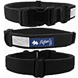 natural hemp dog collars with fleece liner and reflective strip