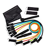 Bandas de resistencia 11pcs / Set Fitness Gym Ejercicio Body Muscle Training Tubes Yoga Latex Pull Rope Rubber Expander Stretch Bands