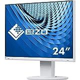 EIZO EV2460 60,5 cm (23,8 Zoll) Ultra-Slim Monitor (DVI-D, HDMI, D-Sub, USB 3.1, DisplayPort, 5 ms Reaktionszeit, Auflösung 1920 x 1080) weiß